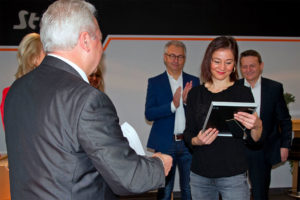 First Management Assistant, Julia Akbas, was honoured for her 10 years of service to the company