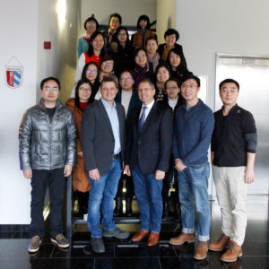 Chinese teacher delegation at the Sturm-Gruppe