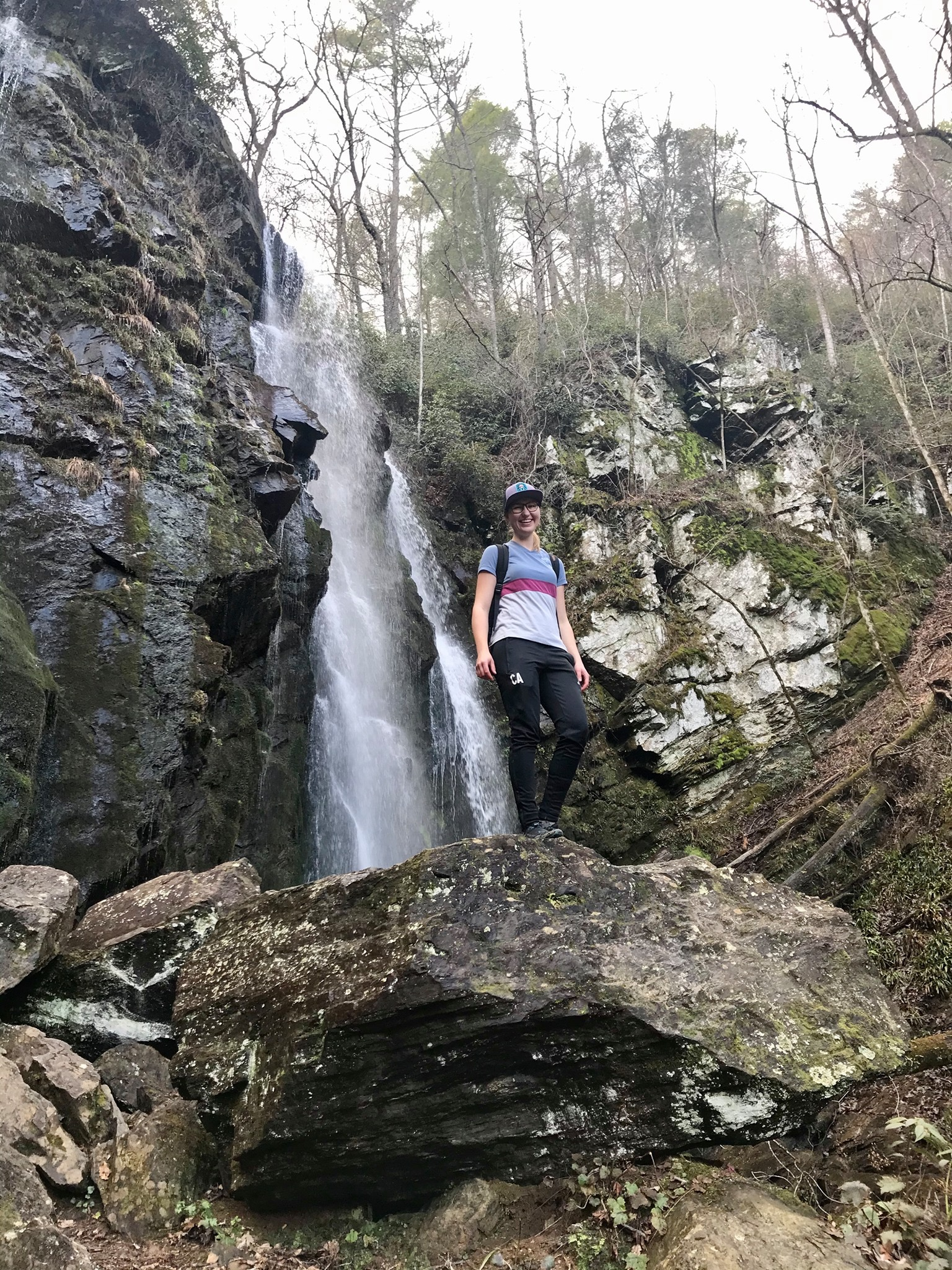 Christina Aigner hiking in the Appalachians