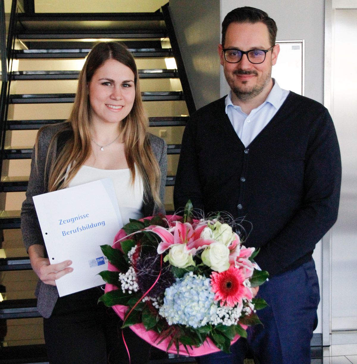 Sandra Hirtreiter finished her further education as the best of the course