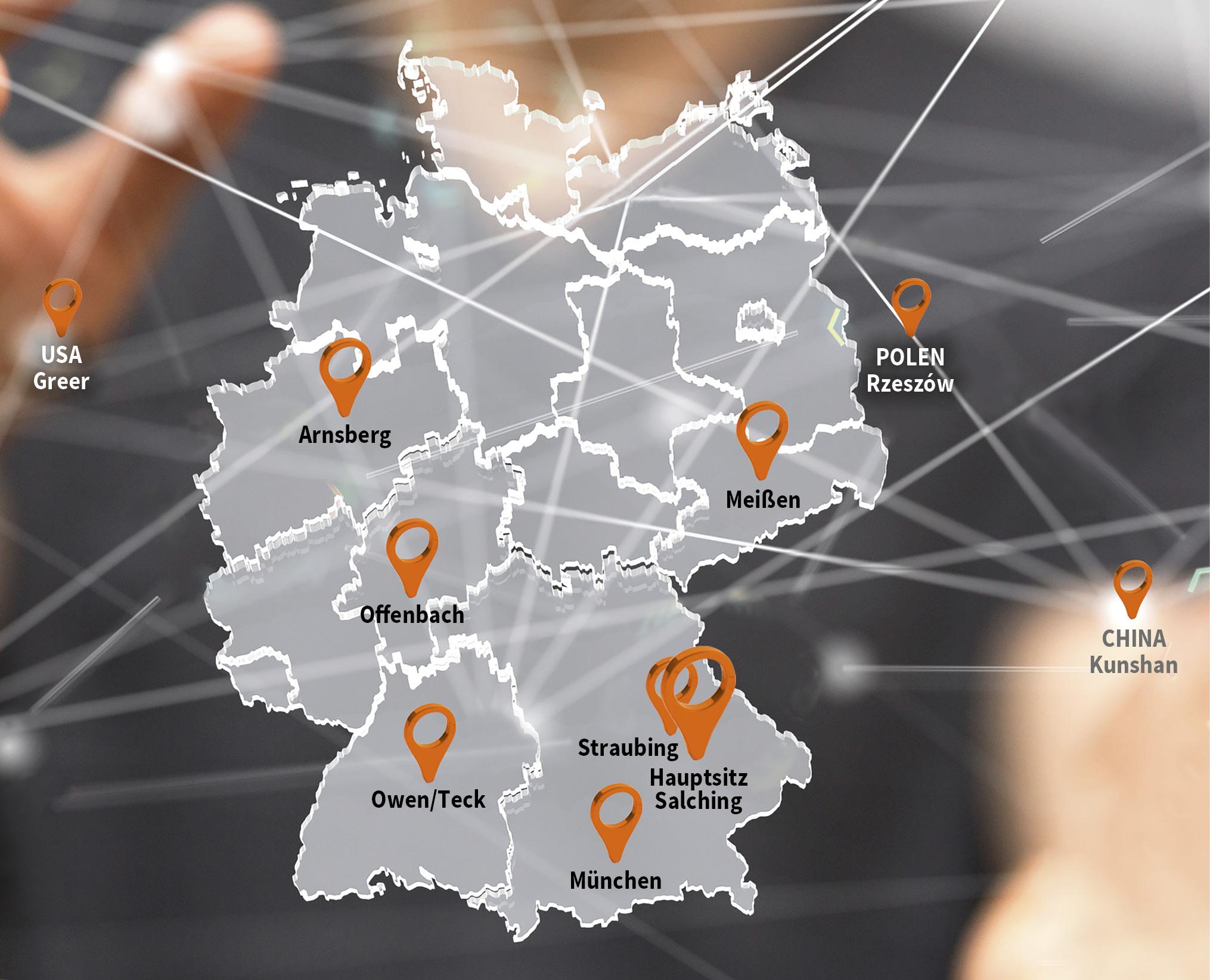 Sturm-Gruppe Standorte
